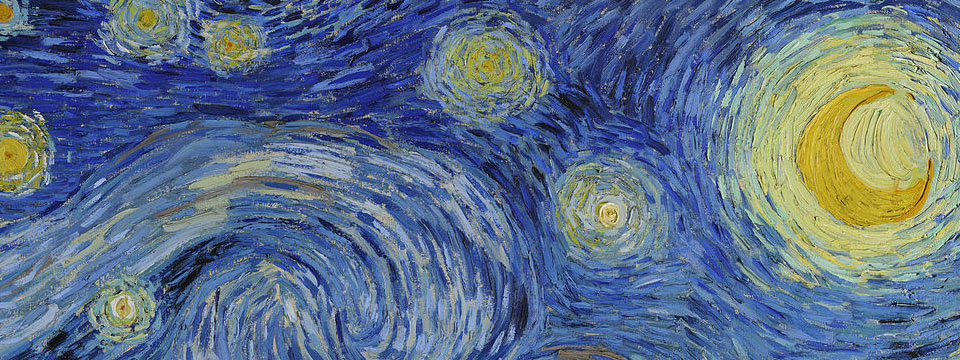 an analysis of styles patterns and colors in a starry night by vincent van gogh