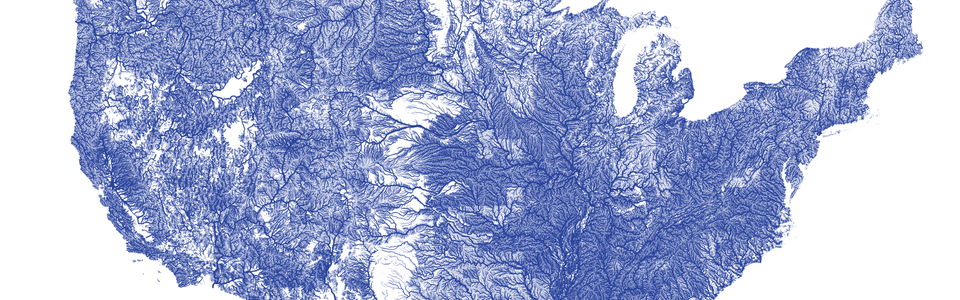 Map Of American Rivers By Nelson Minar